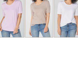 Denim & Co. Essentials AnyWear Tops T Shirts